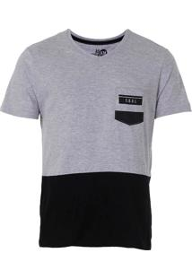 Camiseta Com Bolso Masculina Km - Pto/Cza