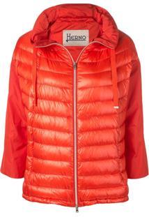 Herno Short Puffer Jacket - Laranja