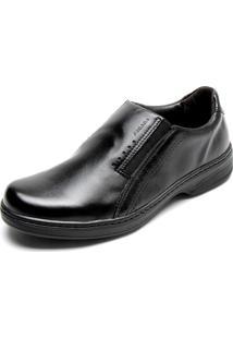 Sapato Social Couro Pegada Básico Preto