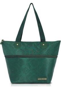 Bolsa Expansível Jacki Design Estampada - Feminino-Verde