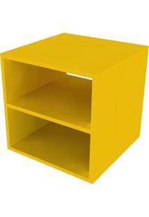 Nicho Quadrado Com Prateleira Cubo Ii Amarelo