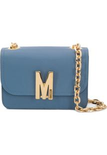 Moschino Small M Shoulder Crossbody Bag - Azul