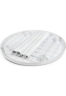 Mesa Redonda Desmontável Branca - Arqplast