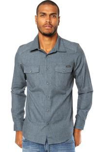 Camisa Oakley Mod The General Woven Chino Azul