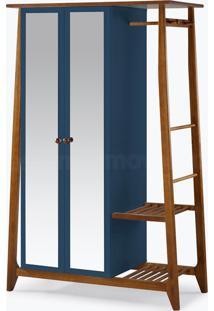 Armário/Roupeiro Multiuso Stoka - 2 Portas Azul Marinho Laca M505