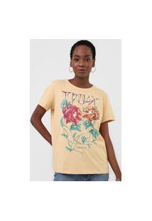 Camiseta Colcci Trust Love Bege