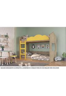 Beliche - Montessoriano - Casinha - Montreal - Amarelo - Completa Móveis