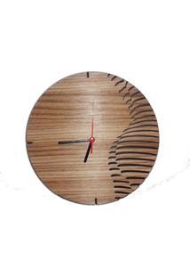 Relógio De Parede Mecanismo Em Madeira Mdf Laminado Imagem Corpo Feminino Decoramix