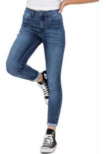 Calça Azul Escuro Skinny Jeans Premium