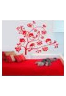 Adesivo De Parede Floral Turma Passarinho - G 75X60Cm