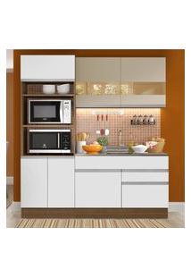 Cozinha Compacta Madesa Helen 6 Portas 2 Gavetas (Sem Tampo E Pia) Marrom