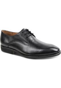 Sapato Social Couro Derby Sandro Moscoloni Quincy Masculino - Masculino-Preto