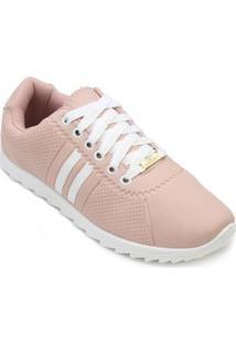 Tênis Star Feet Tratorado Feminino - Feminino-Rosa+Branco