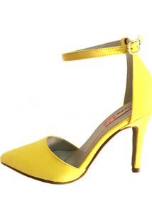 Scarpin Blume Calçados Middle Amarelo