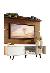 Rack Madesa Dubai E Painel Para Tv Até 65 Polegadas Com Pés Branco/Rustic 095Z Mdes020014095Z