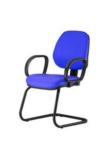 Cadeira Corporate Executiva Cor Azul Com Base Skim - 43984 Azul