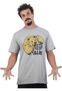 Camiseta Alfa Urso Cinza Mescla