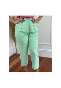 Calça Pantacourt Candy Colors Verde