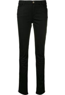 Emporio Armani Calça Jeans Com Detalhe De Listra - Preto
