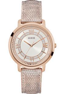 4f1c49cc969 ... Relógio Guess Feminino Couro Rosa - W0934L5