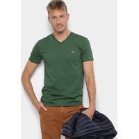 29103bbbd8 Camiseta Lacoste Gola V Regular Fit Masculina - Masculino-Verde