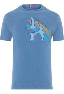 Camiseta Masculina Estampada Bons Ventos - Azul