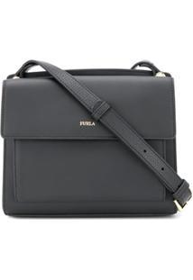 Furla Square Crossbody Bag - Preto