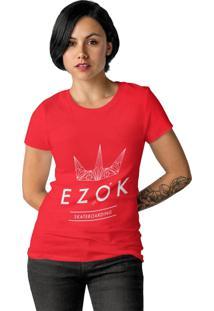 Camiseta Feminina Ezok Urban Vermelho - Kanui