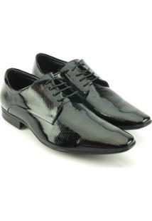 Sapato Social Couro Teselli Verniz Masculino - Masculino