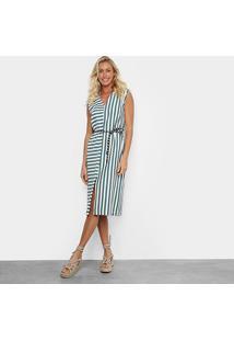 Vestido Osklen Summer Stripe - Feminino-Azul