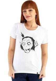 Baby Look Ouroboros Manga Curta King Monkey - Feminino-Branco