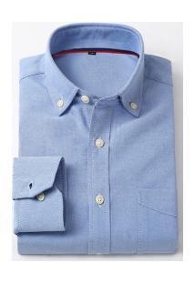 Camisa Social Masculina Nashville - Azul Escuro