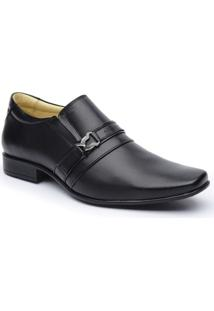 Sapato Social Dlutty Bico Quadrado Pele De Carneiro Masculino - Masculino