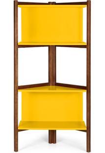 Estante Easy 0672-0-280 Maxima Cacau/Amarelo