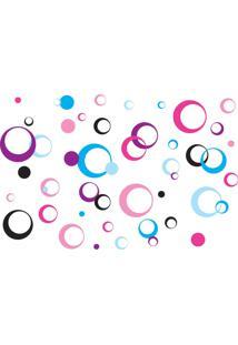 Adesivo De Parede Quartinhos Arcos Coloridos Rosa Lilás - Tricae