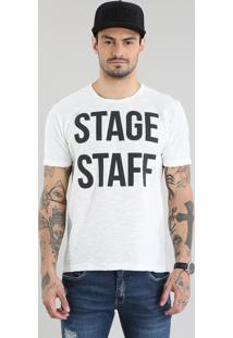 "Camiseta ""Stage Staff"" Em Moletom Off White"