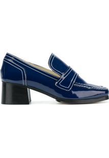 Nicole Saldaña Sapato 'Sage 2.0' De Couro - Azul