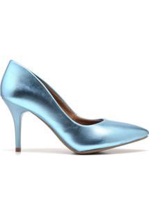 Scarpin Salto Mã©Dio Gisela Costa Azul - Azul - Feminino - Dafiti