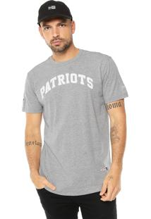 Camiseta New Era New England Patriots Cinza