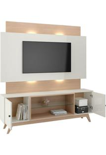 "Estante Home Tb142L Para Tvs De Até 58"" Off White / Natural"