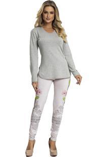 Pijama Recco Viscose Super Micro Marrom