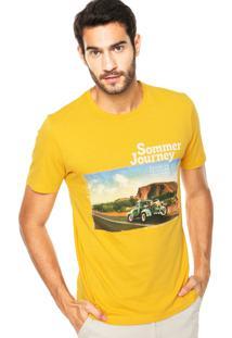 Camiseta Sommer Mini Journey Amarela