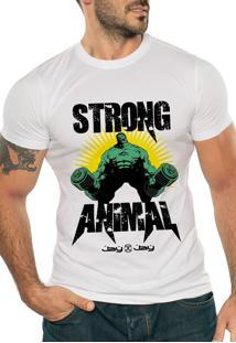 Camiseta Manga Curta Jay Jay Strong Animal Branca
