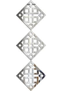 Espelho Love Decor Decorativo Kit Ladrilho Quadrado Único