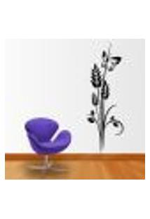 Adesivo De Parede Floral 39 (Com Borboleta) - Eg 180X60Cm