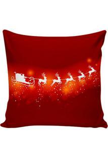 Capa Para Almofada Xmas Night- Vermelha & Branca- 45Stm Home