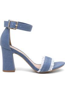 Sandália Feminino Milano Jeans Light Blue 9437
