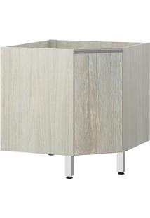 Módulo Cozinha Balcão Sem Tampo Lis Canto Diagonal 1 Porta - 76Cm - 2556/173 - Legno Crema - Prime Plus - Luciane