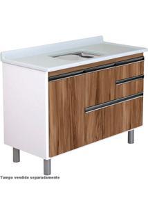 Armário Cozinha 120Cm Coliseu Nogal 5860-29 A.J. Rorato