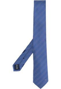 Salvatore Ferragamo Gravata Com Poás - Azul